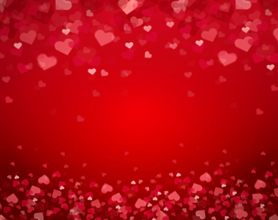 Download Free Stock HD Photo of Valentines Day Heart Pattern Background Online