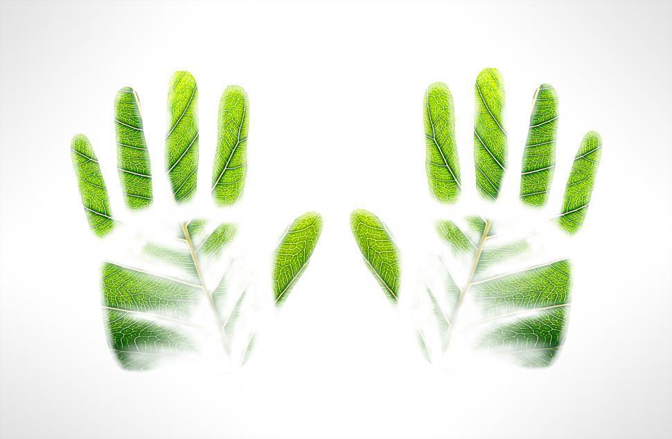 Download Free Stock HD Photo of Green handprints Online