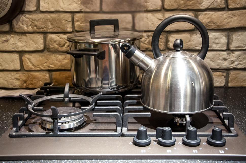 Download Free Stock HD Photo of pots on kitchen stove Online