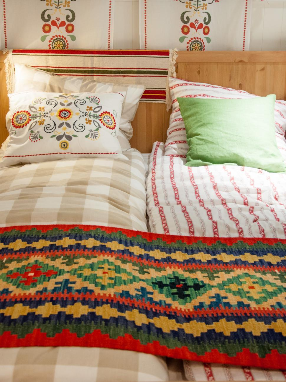 Download Free Stock Photo of country style bedroom bed