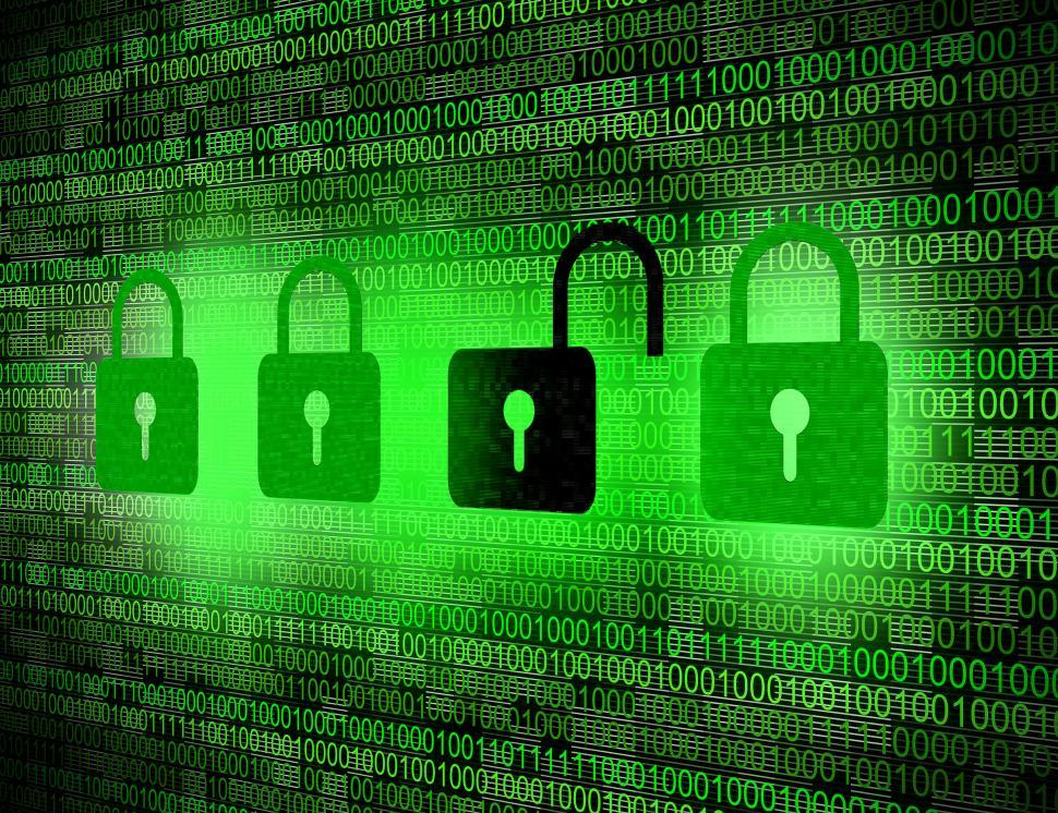 Download Free Stock Photo of Security concept - Locks on digital screen