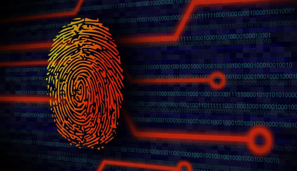 Download Free Stock Photo of Online Security Concept - Fingerprint on Virtual Screen