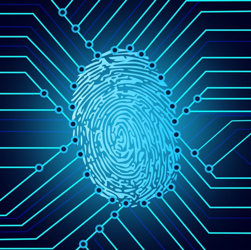 Download Free Stock HD Photo of Biometric fingerprint identification system electronics Online