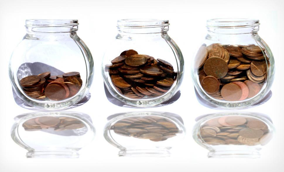 Download Free Stock HD Photo of Coins in the jar as savings Online
