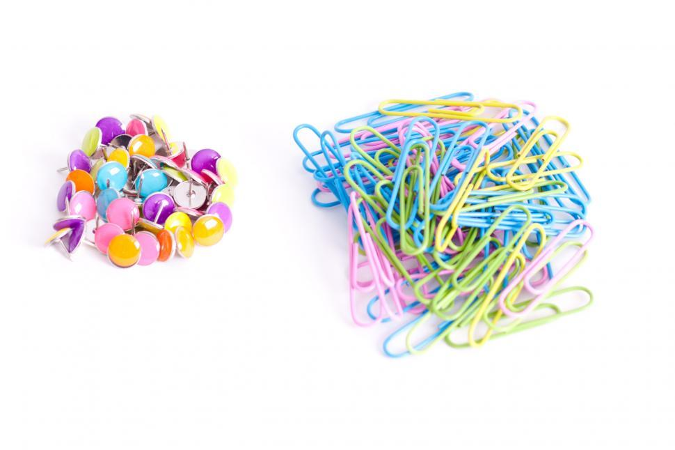 Download Free Stock HD Photo of Tacks and paper clips Online