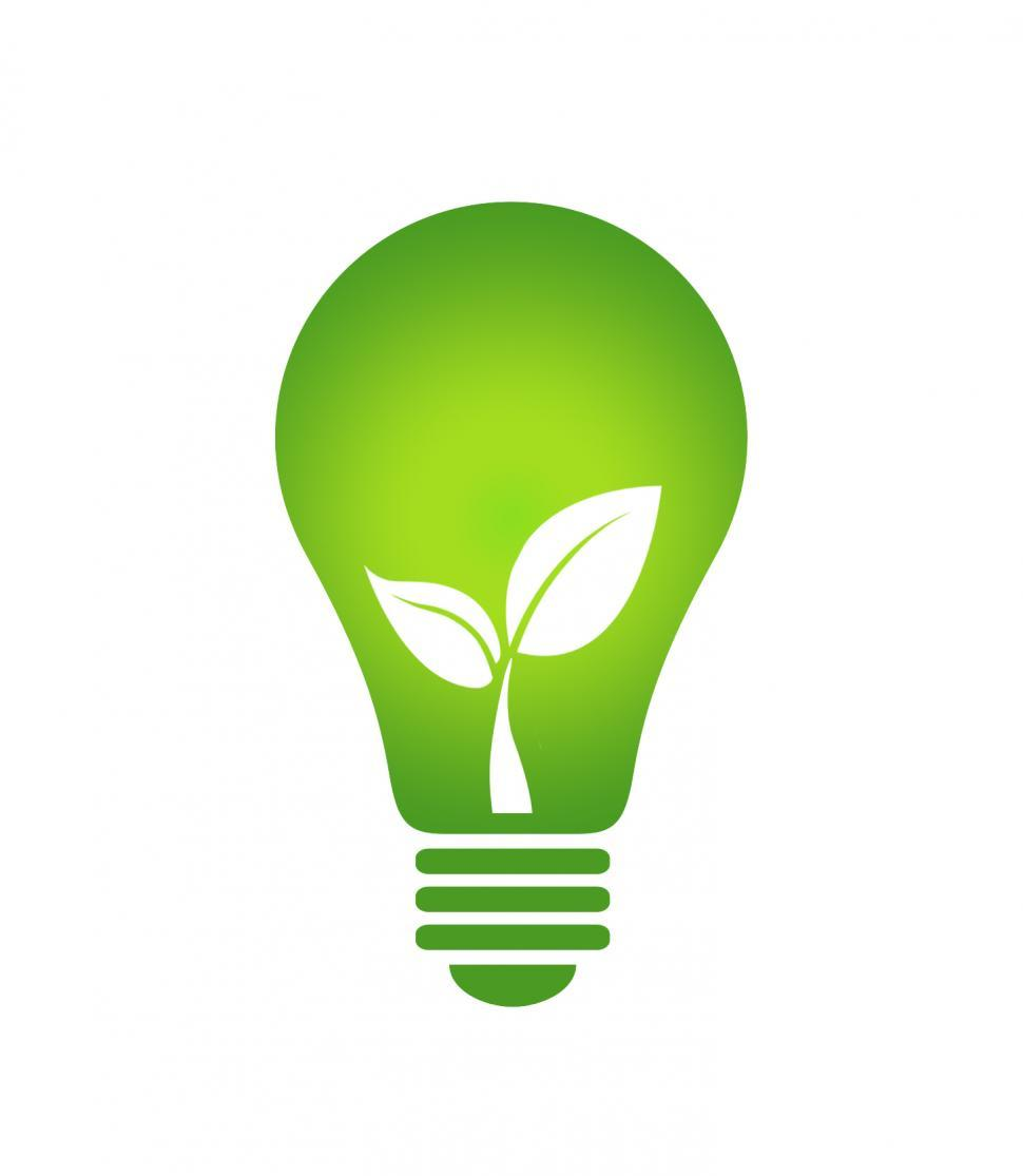 Download Free Stock Photo of Ecology Think green light bulb