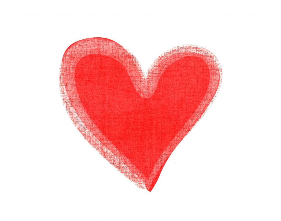 Download Free Stock Photo of Watercolor red heart icon clipart vector