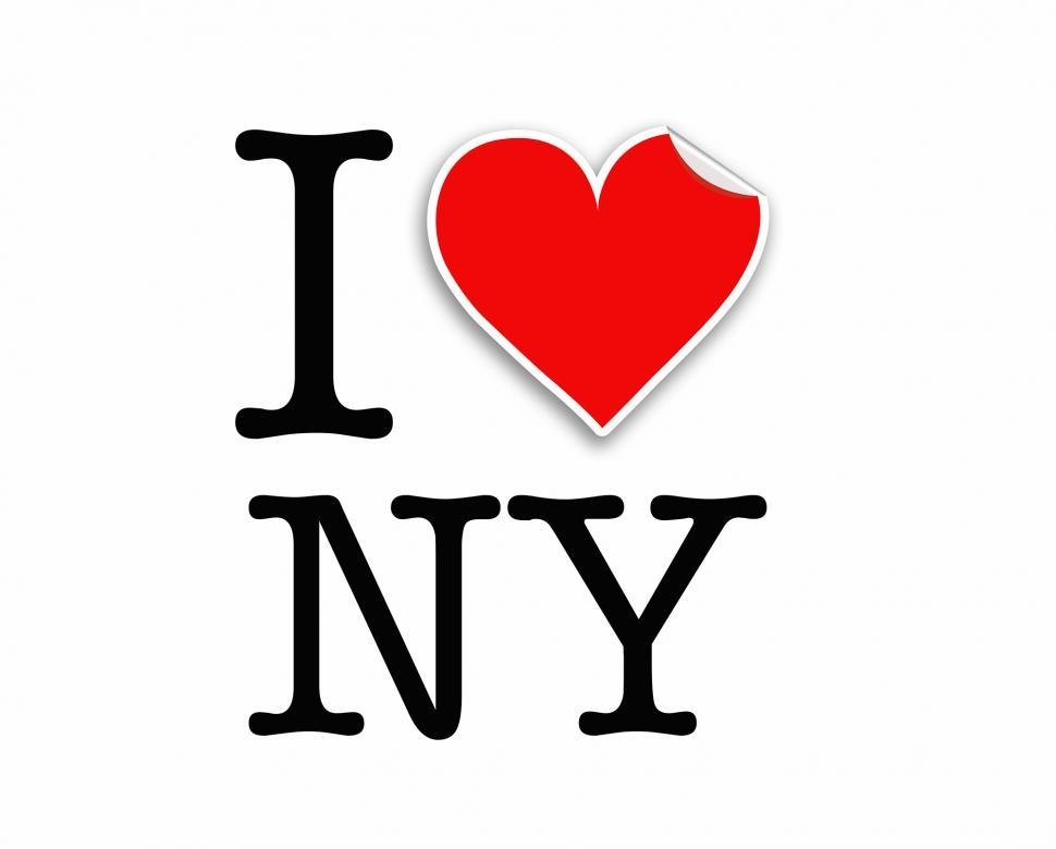 Download Free Stock HD Photo of I love NY letters design Online