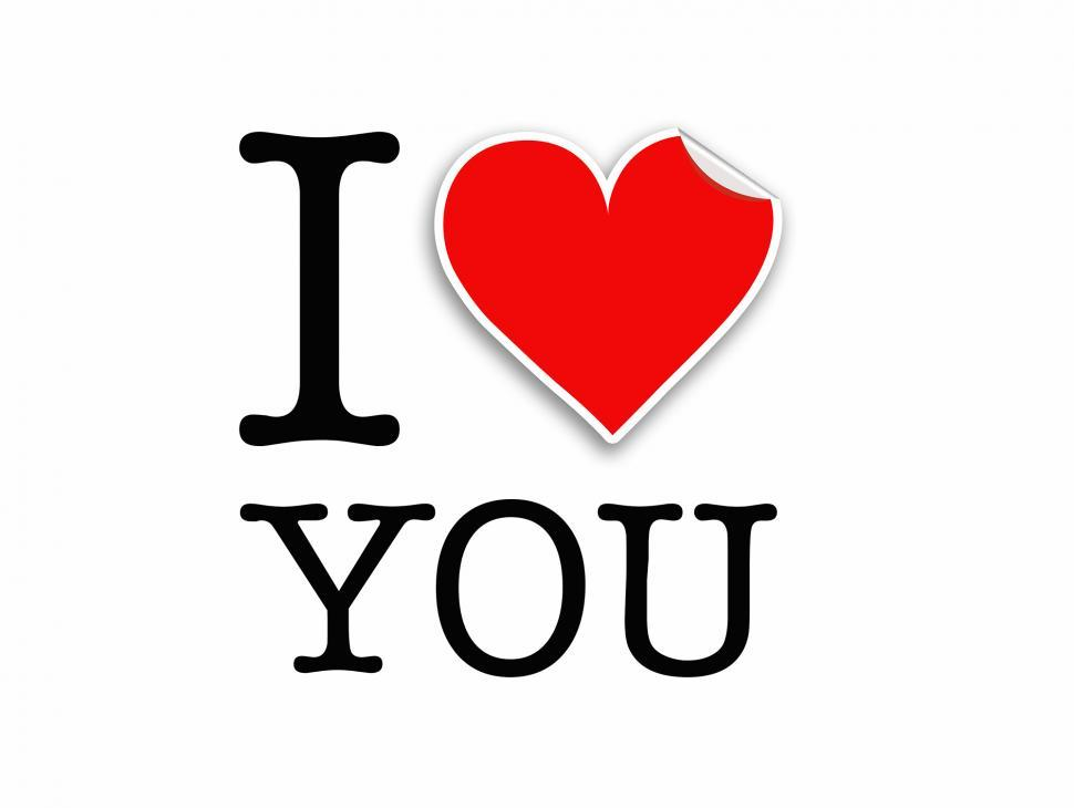 Download Free Stock HD Photo of I Love You letters design Online