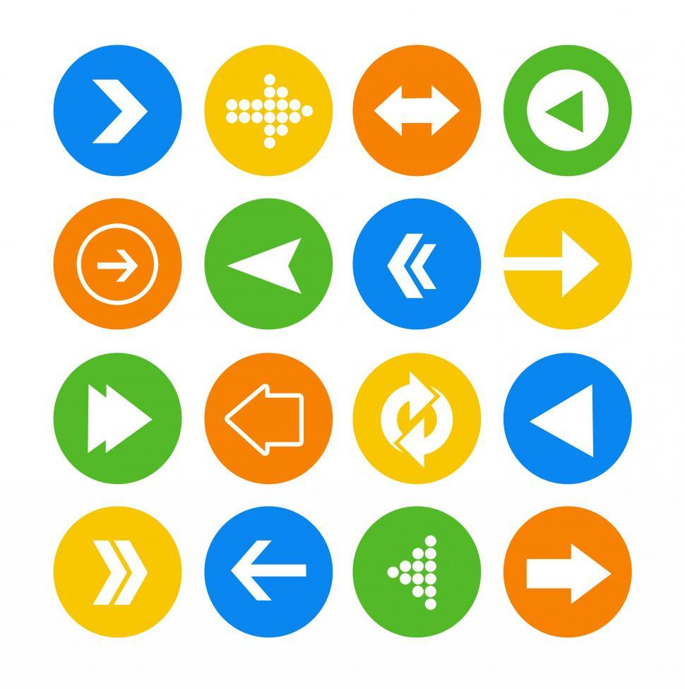 Download Free Stock Photo of Arrow icon vector set