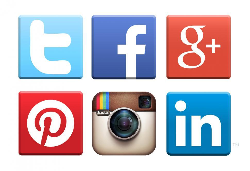 Download Free Stock Photo of Social media networking icons logos