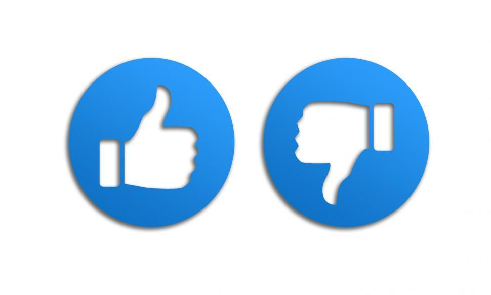 Download Free Stock Photo of Thumbs Up and Down like Icons
