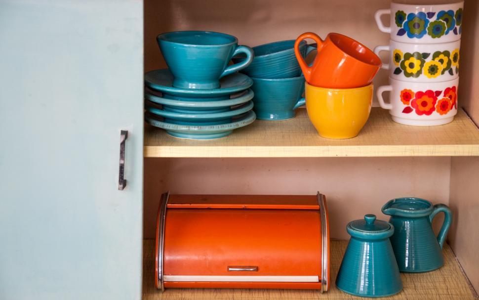 Download Free Stock Photo of retro vintage kitchenware ceramics
