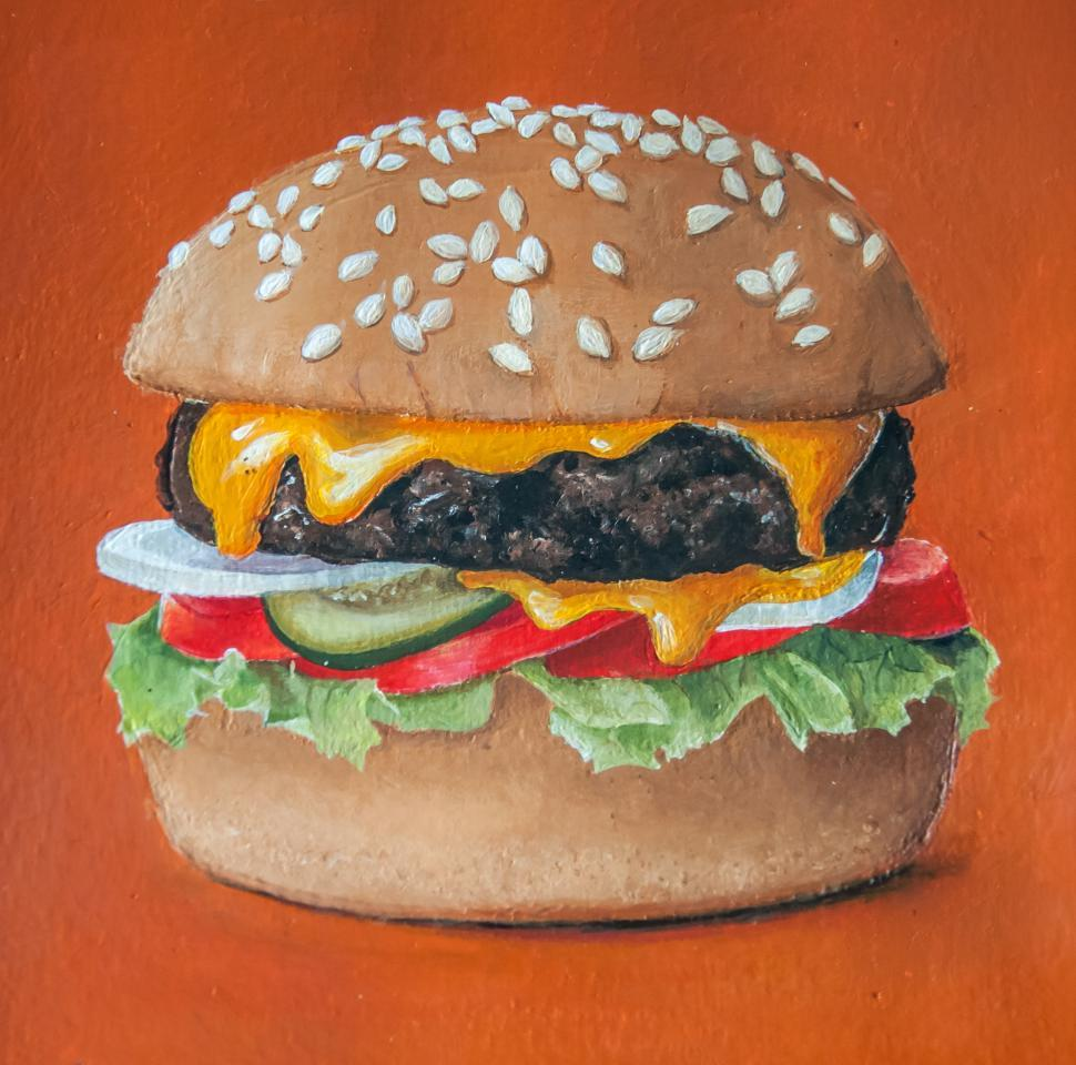 Download Free Stock HD Photo of hamburger painting illustration Online