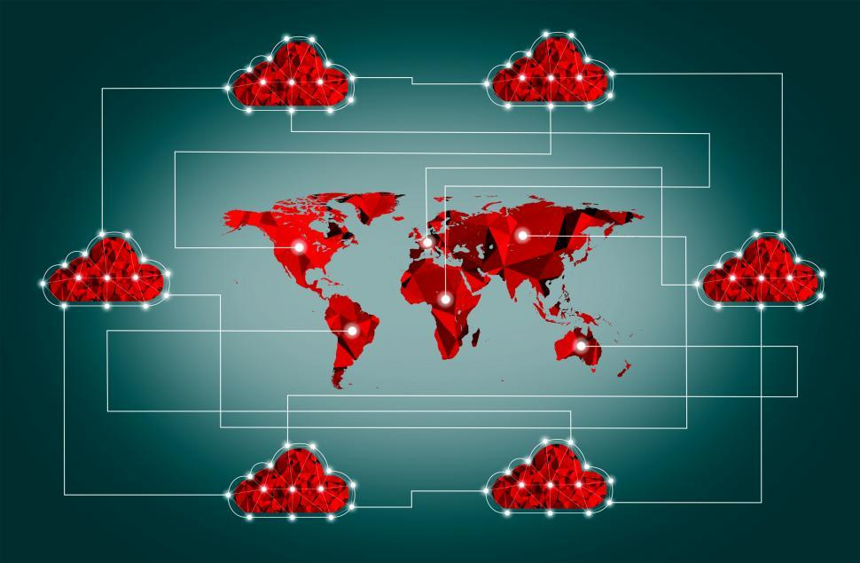 Download Free Stock HD Photo of The Internet of Things - Global Cloud Concept Online