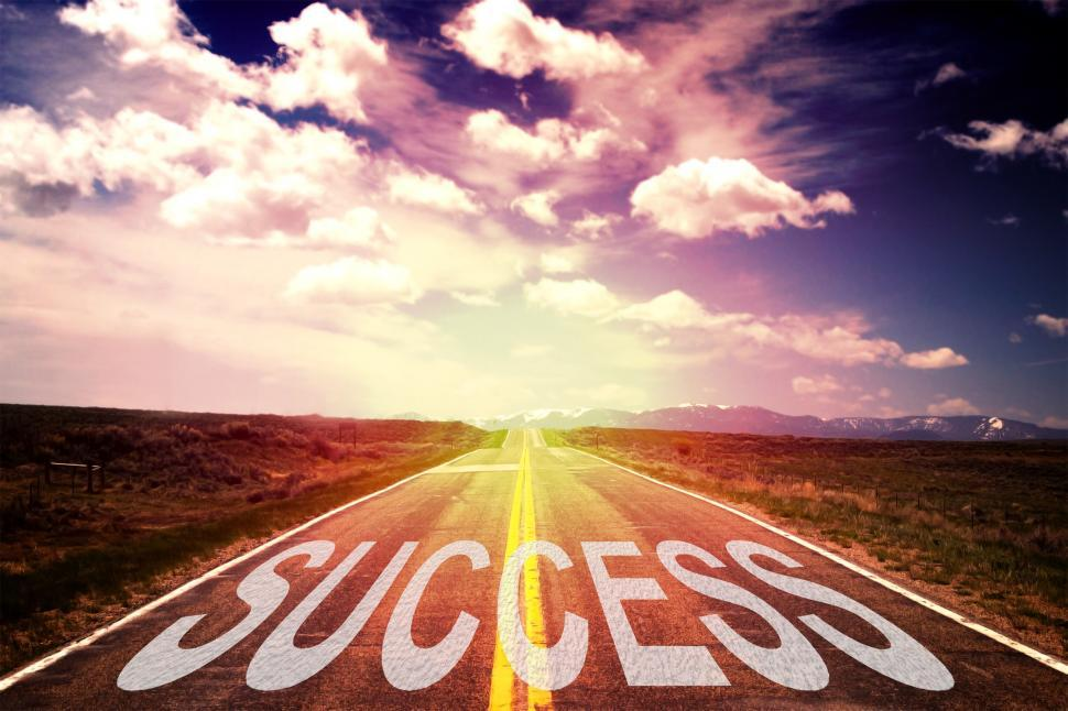 Download Free Stock Photo of The Road to Success