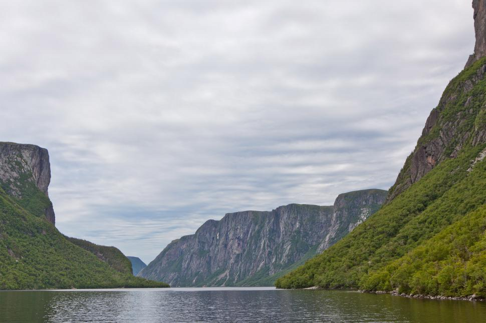 Download Free Stock Photo of Mountains at Western Brook Pond