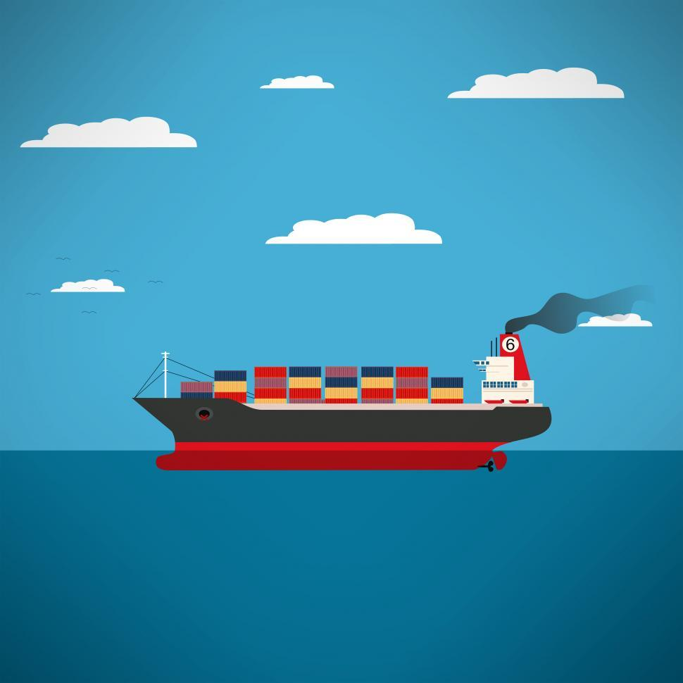 Download Free Stock Photo of Cargo Ship