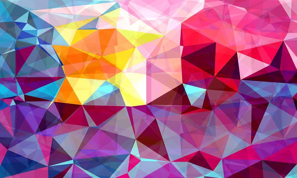 Download Free Stock HD Photo of Modern Triangle Abstract Colorful Background Online