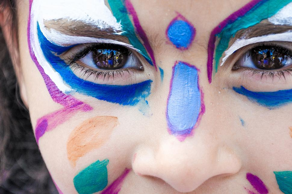 Download Free Stock Photo of girl child with face painting
