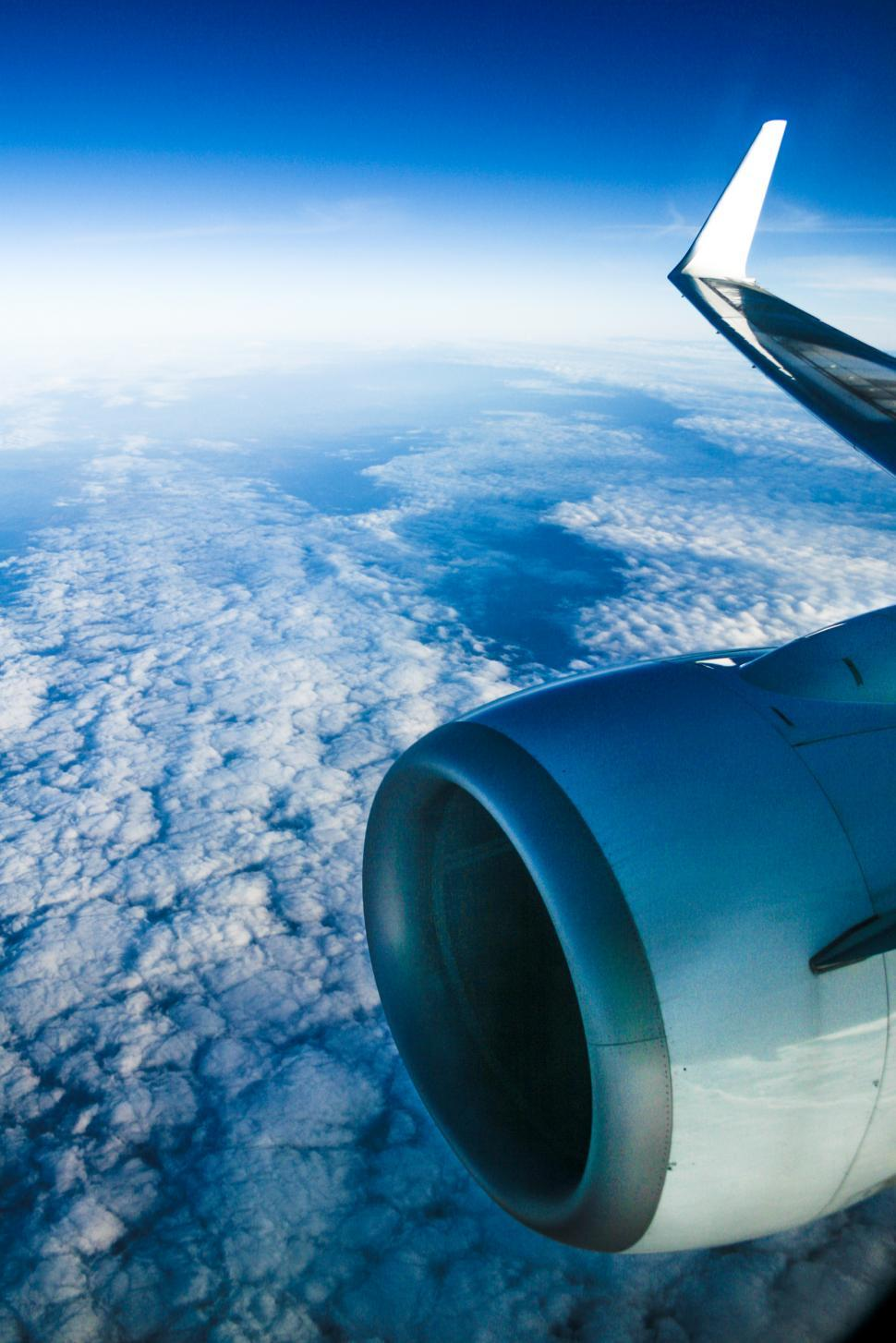 Download Free Stock Photo of view from the airplane window