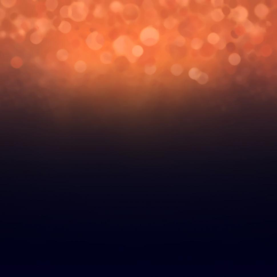 Download Free Stock Photo of Bokeh background - deep blue and orange with copyspace