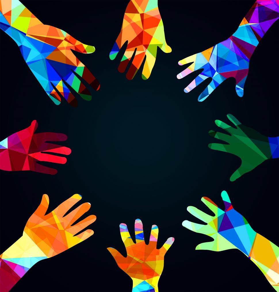 Download Free Stock HD Photo of Joining hands together - Union concept - with copyspace Online