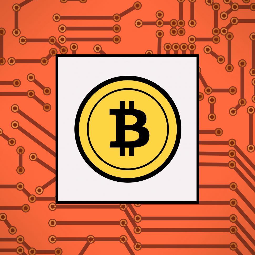 Download Free Stock Photo of Bitcoin symbol - Virtual payments logo