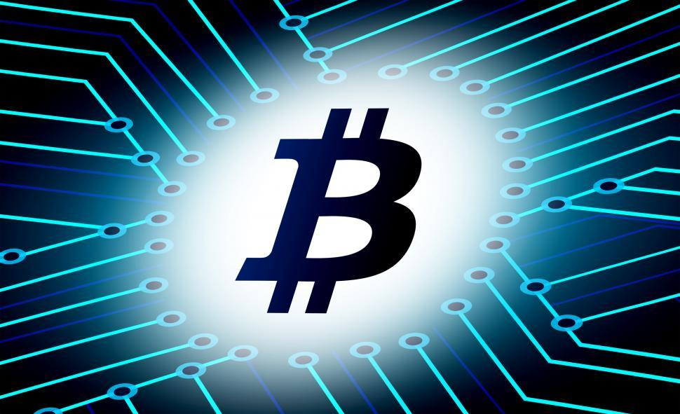 Download Free Stock HD Photo of Bitcoin logo - Virtual currency for e-commerce Online