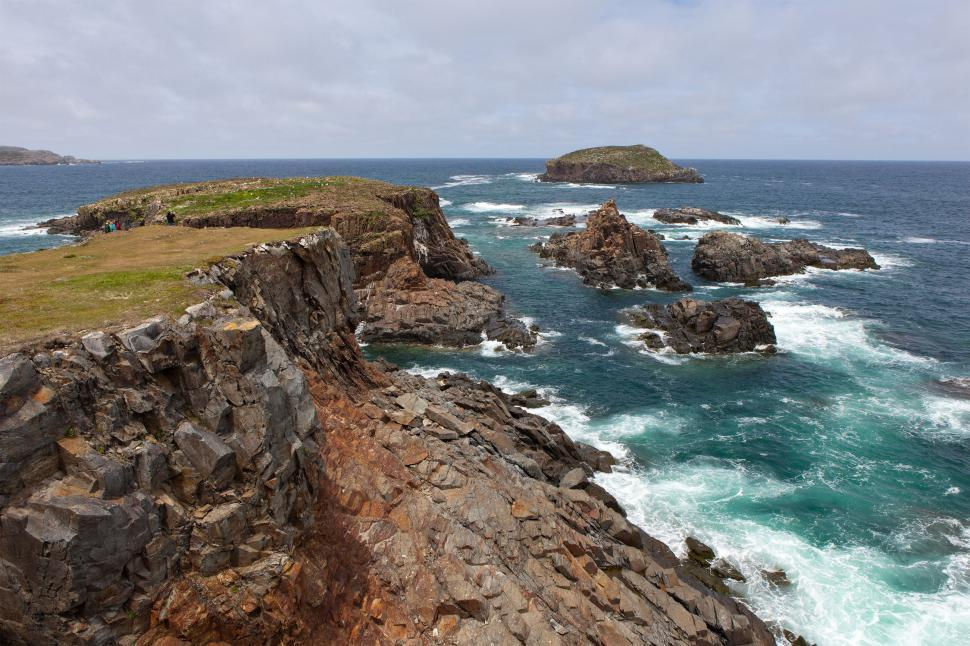 Download Free Stock Photo of Rocky Coastline