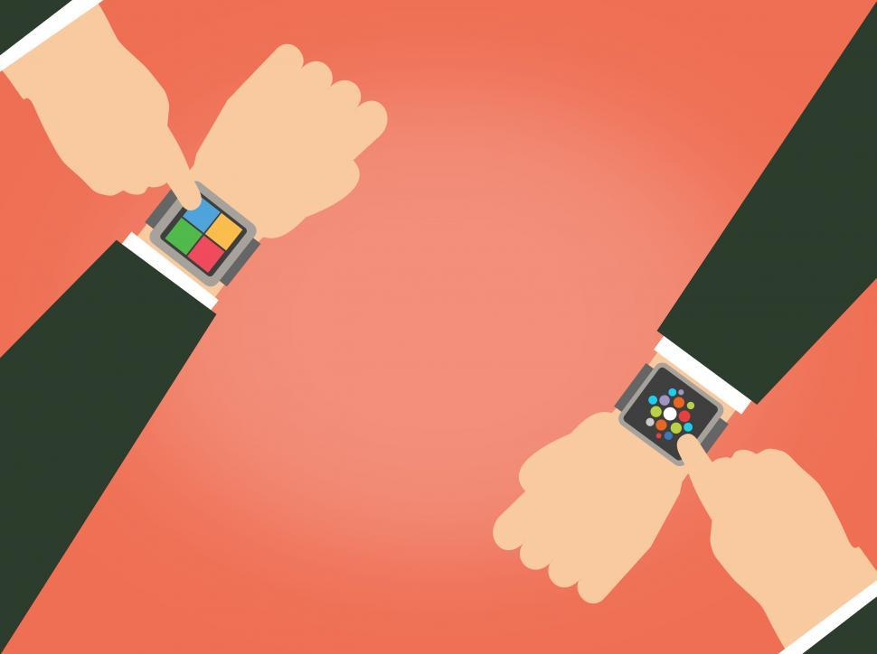 Download Free Stock Photo of Wearables - The Great Smartwatch Scramble with copyspace