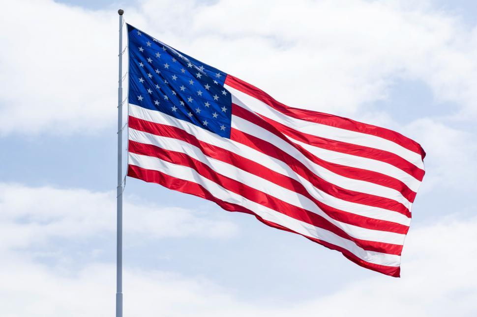 Download Free Stock Photo of American Flag in the wind isolated