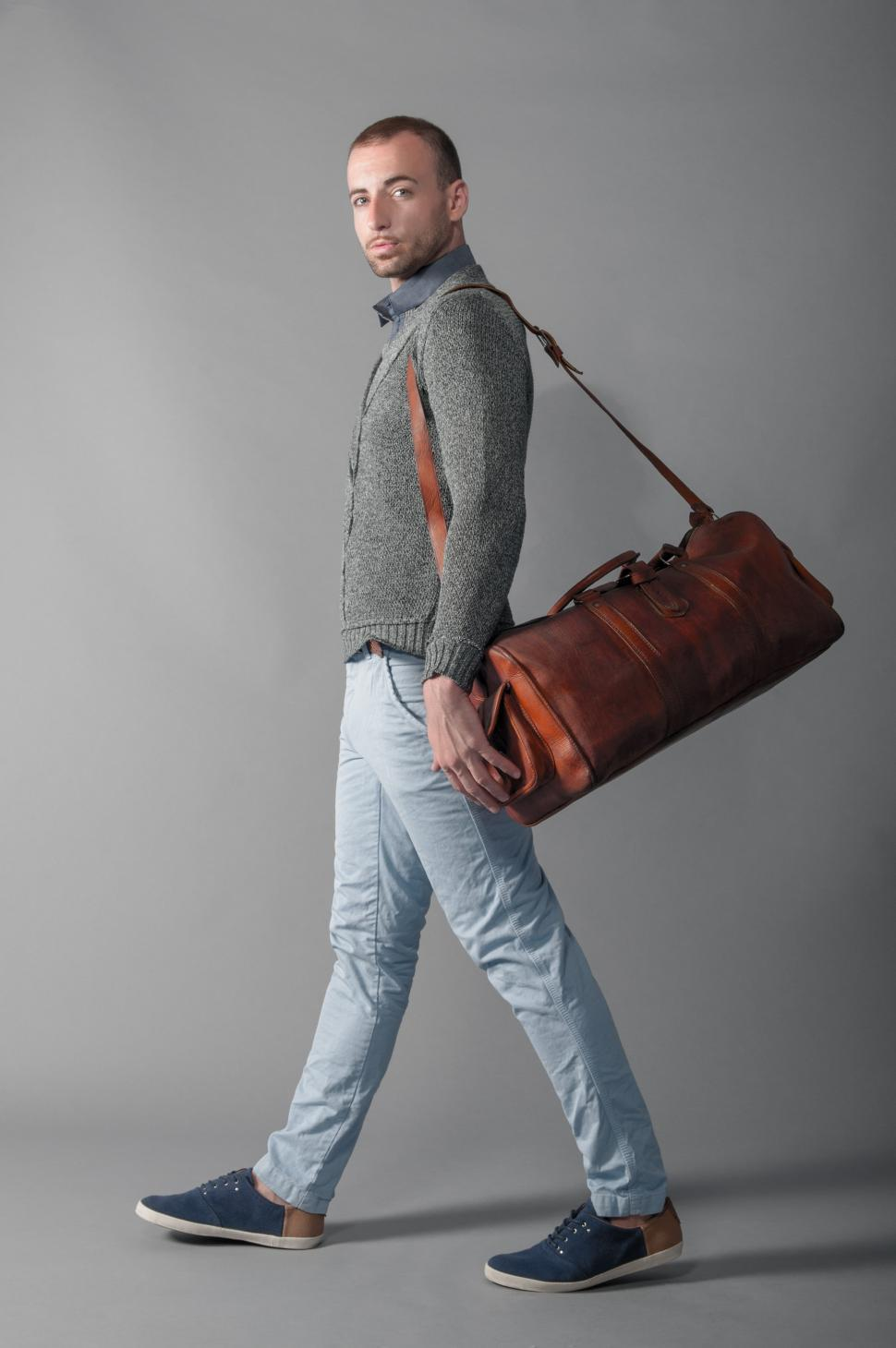 Download Free Stock HD Photo of Man with travel bag Online