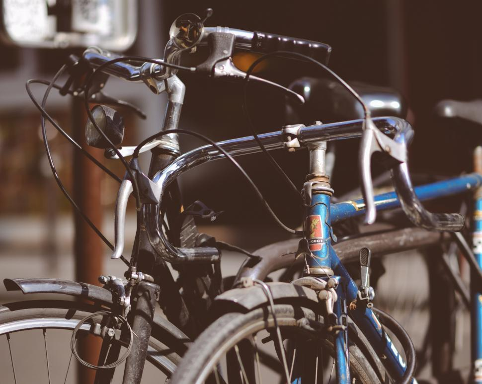 Download Free Stock HD Photo of Close up of bicycles Online