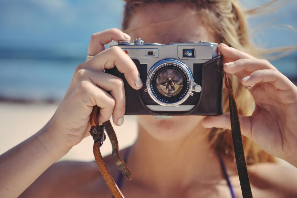 Download Free Stock HD Photo of Woman takes a photo Online