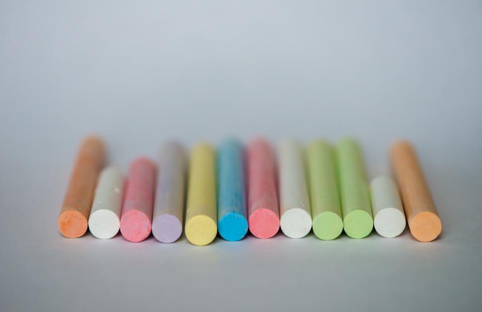 Download Free Stock Photo of Colorful chalks