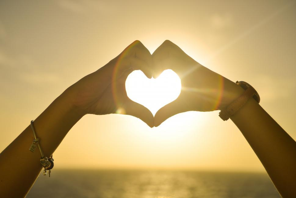 Download Free Stock Photo of Hands make a heart