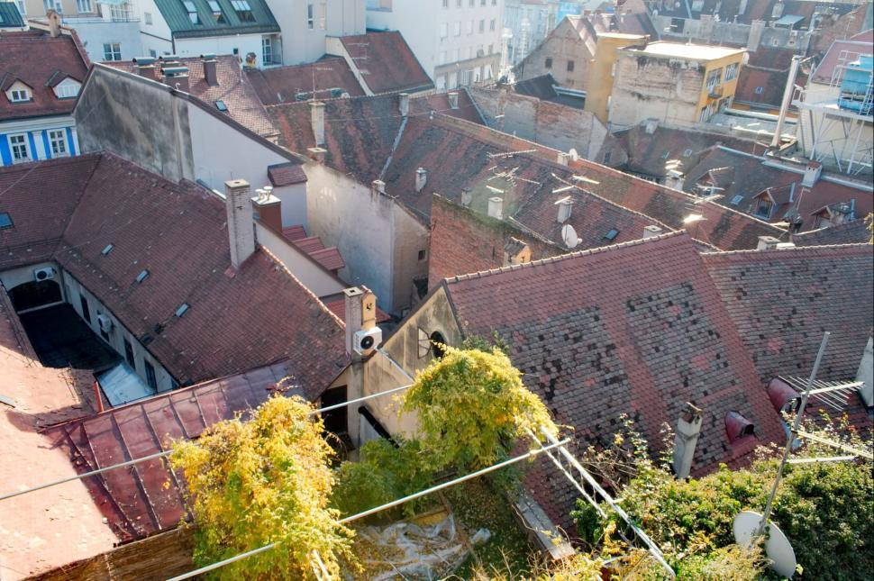 Download Free Stock Photo of Old roofs