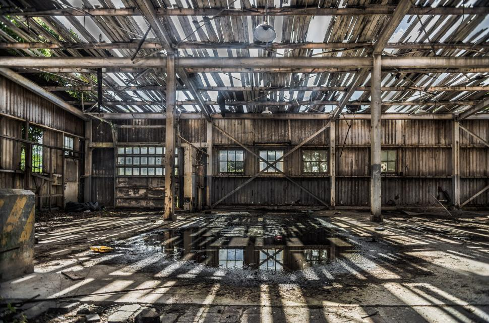 Download Free Stock Photo of Derelict warehouse