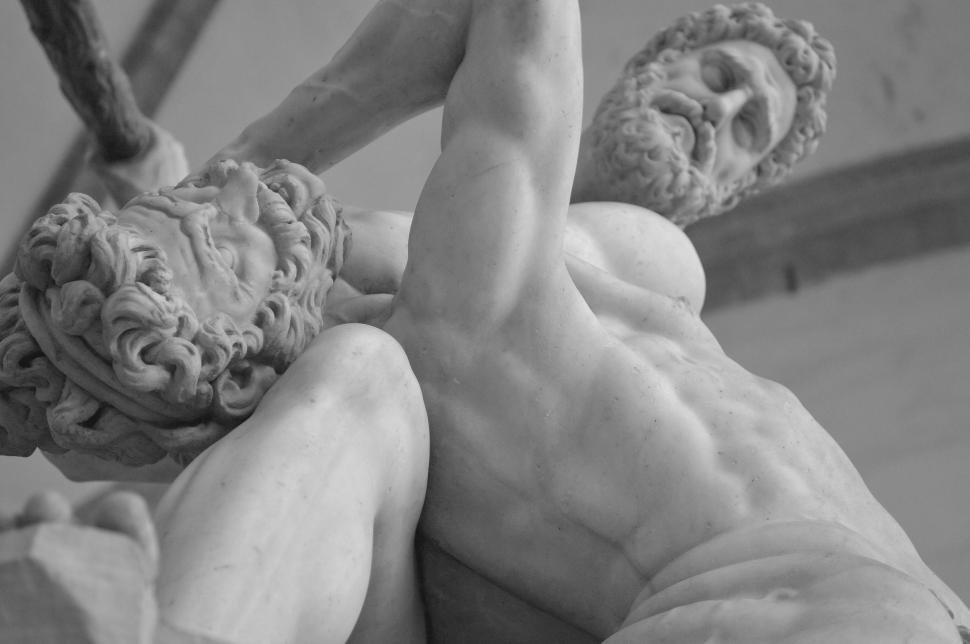 Download Free Stock Photo of Ancient Greek statues