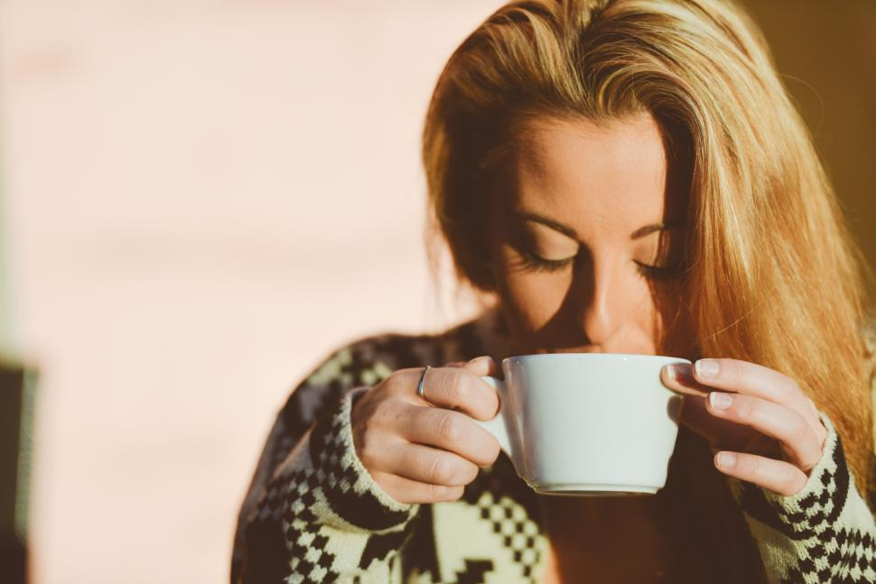 Download Free Stock HD Photo of Sipping coffee Online