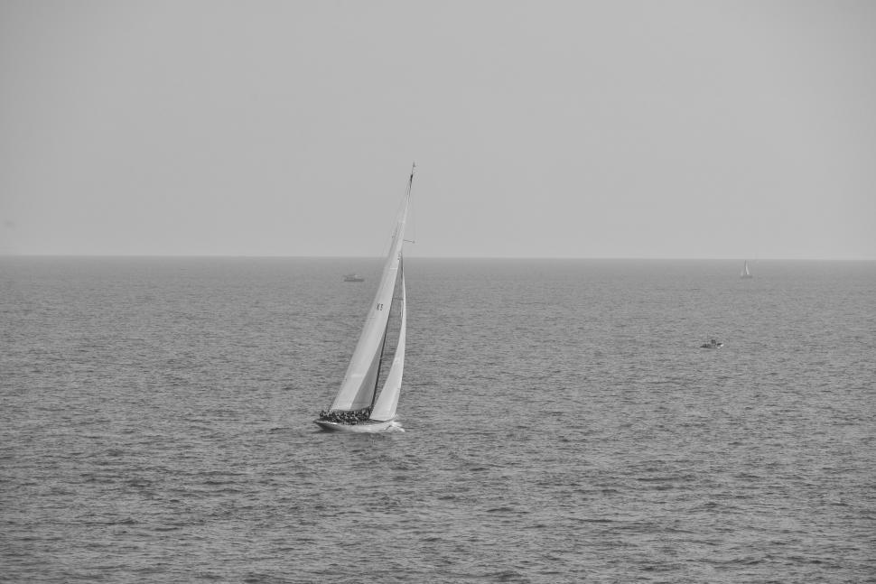 Download Free Stock Photo of Sailboat in the sea