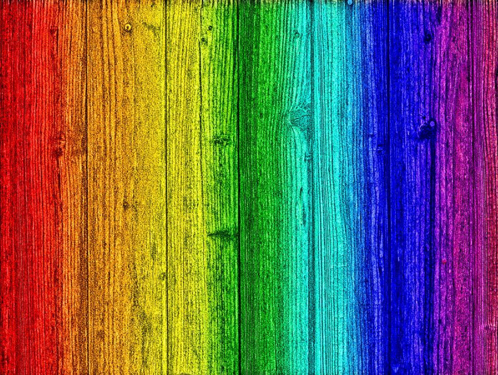 Download Free Stock Photo of Rainbow on wood - Background