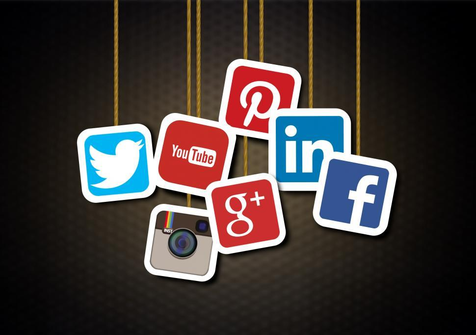 Download Free Stock Photo of Main social media brands - Illustration