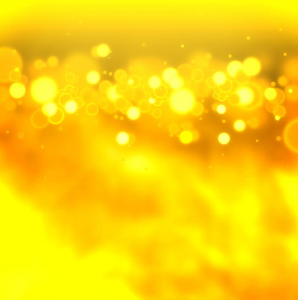 Download Free Stock Photo of Golden bokeh on gold background