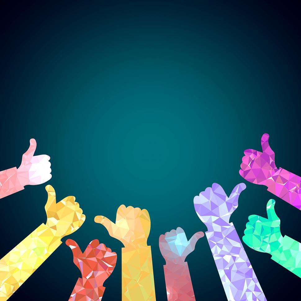 Download Free Stock Photo of Thumbs up of many people - Congratulations concept