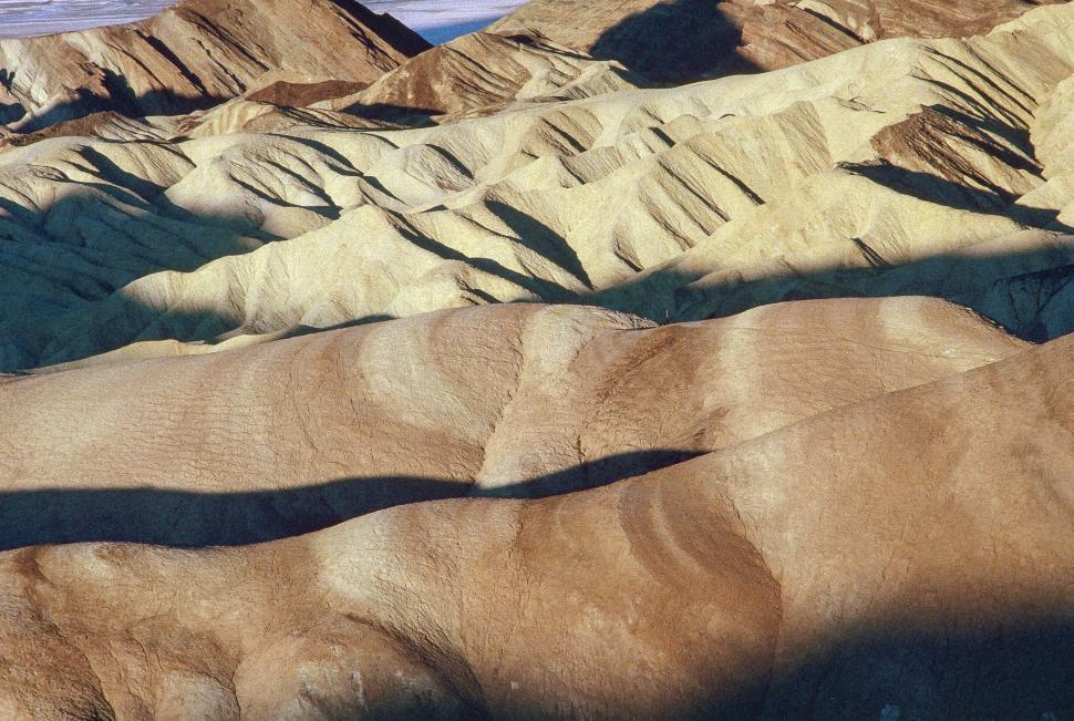 Download Free Stock Photo of Zabriskie Point in Death Valley National Park