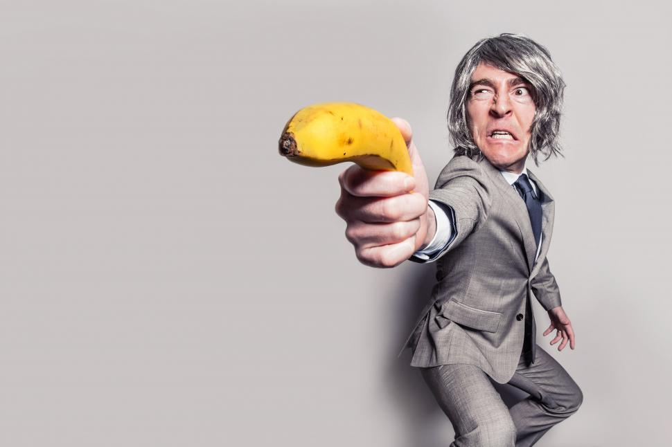 Download Free Stock Photo of Banana pistol