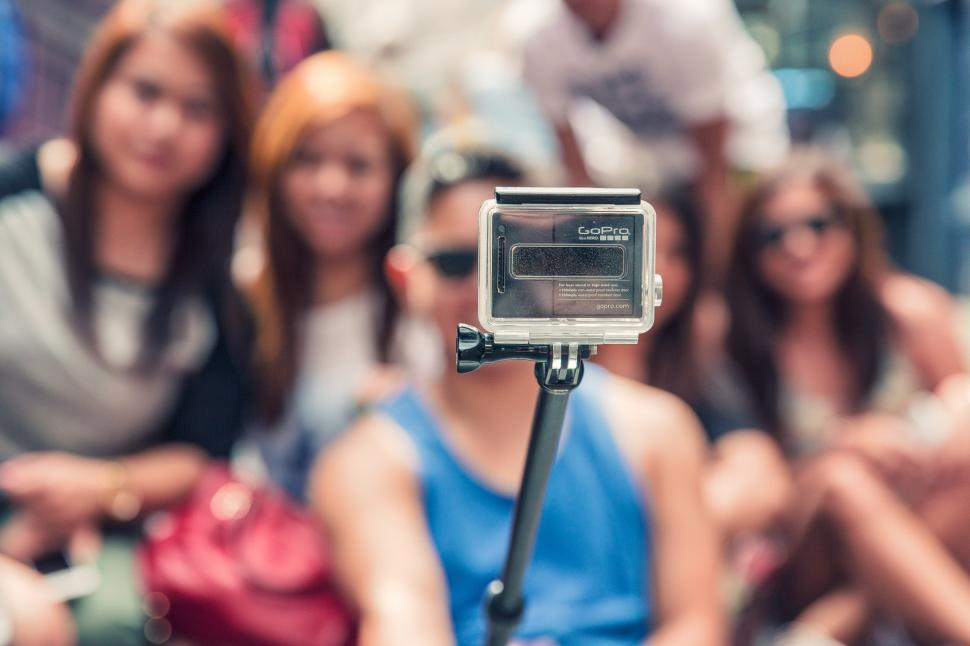 Download Free Stock Photo of Selfie Grip Stick Of GoPro