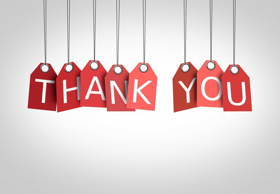 Download Free Stock Photo of Thanking concept - Labels displaying the words Thank You